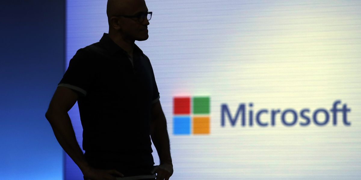 Microsoft's stock market value catches up with Apple