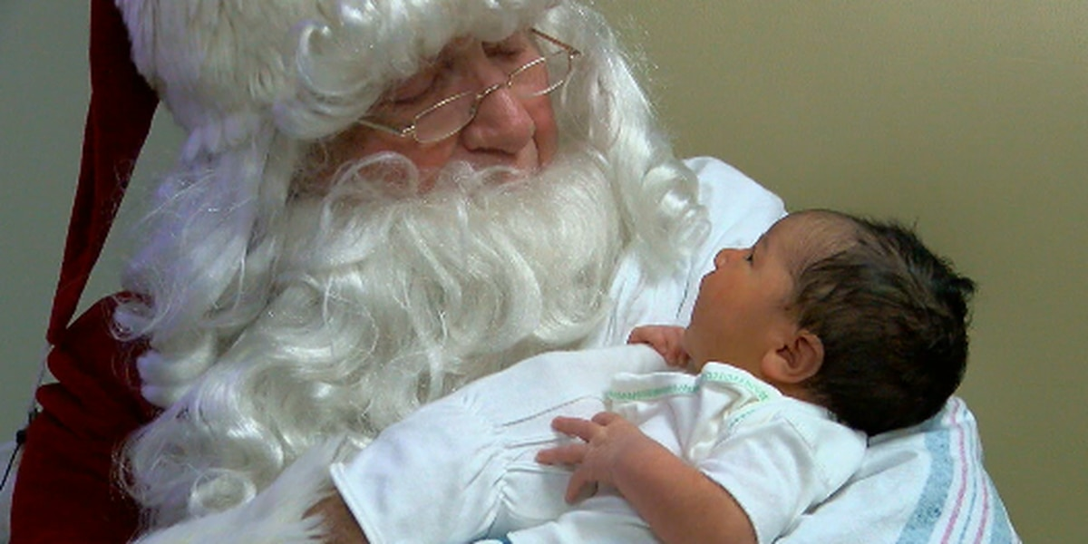 Santa spreads holiday cheer for babies in the N.I.C.U.