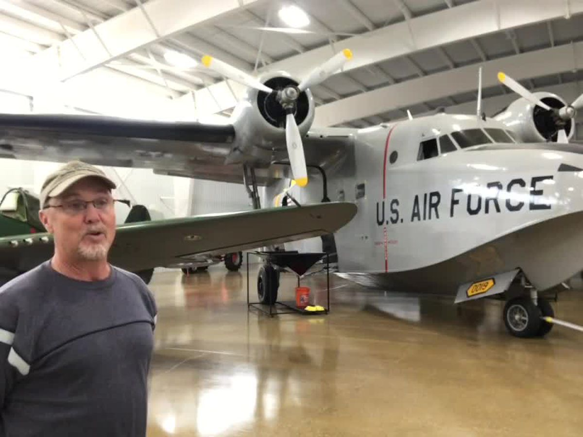 Inside the MidAmerica Flight Museum in Mount Pleasant
