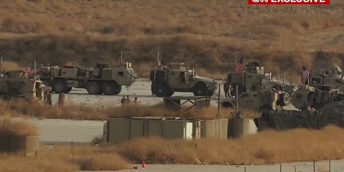 RAW: Largest US troop withdrawal from Syria underway