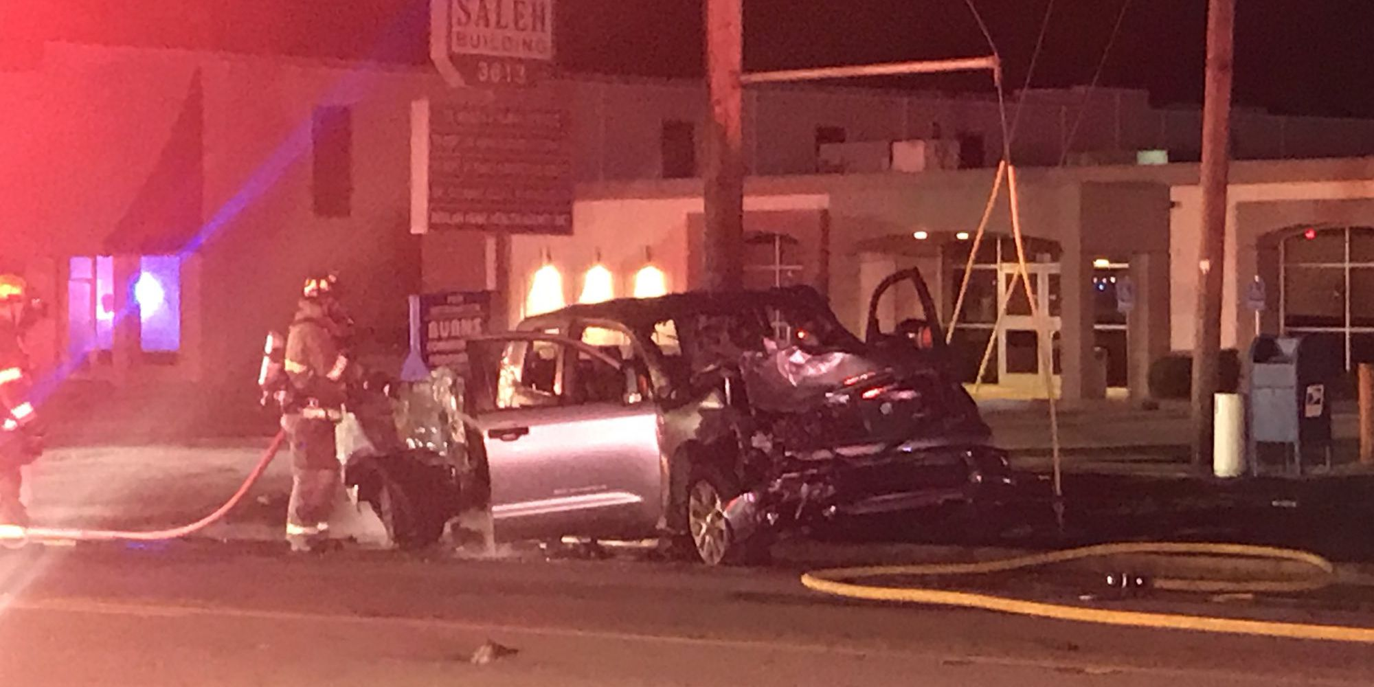 Tyler police identify motorcyclist killed in overnight fiery crash