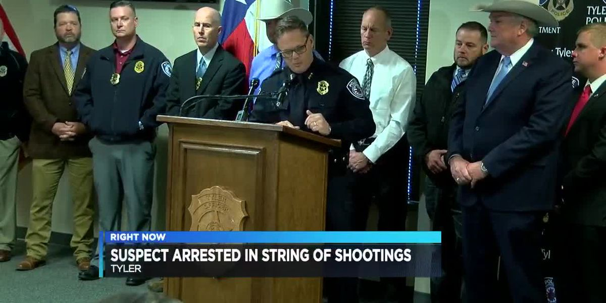 Smith County Sheriff's Office, Tyler police discuss recent shootings, arrest of suspect