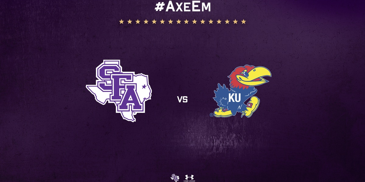 SFA basketball set to clash with Jayhawks in December showdown