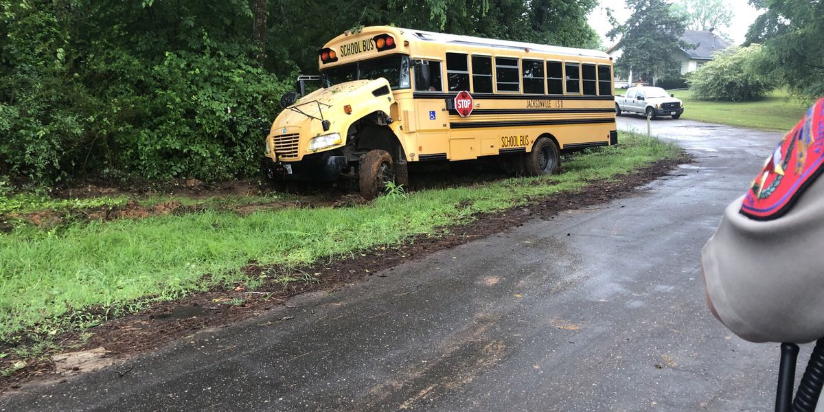 Jacksonville ISD bus wrecks into tree in Cherokee County