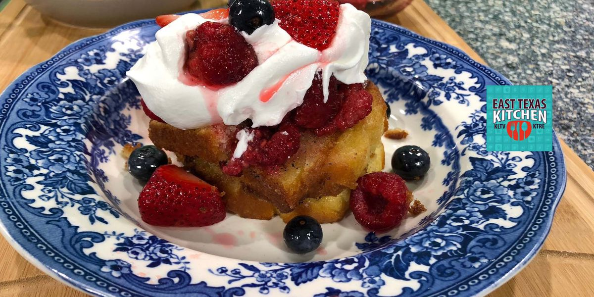 Grilled pound cake with fresh berry salsa by Mama Steph