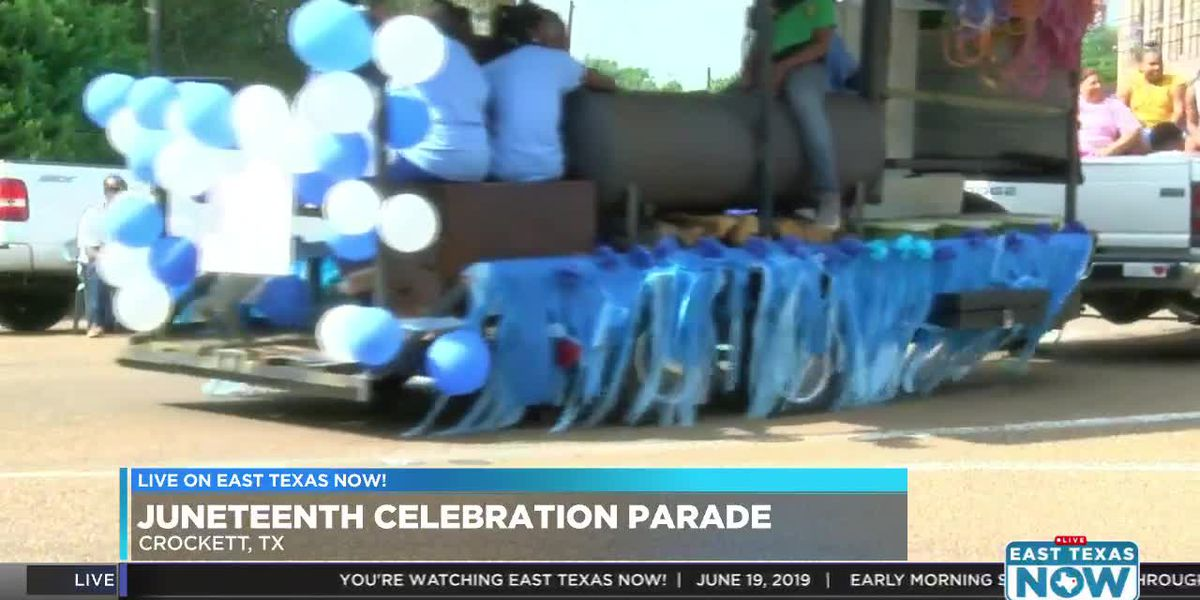 Live on East Texas Now: Juneteenth parade in Crockett - VOD