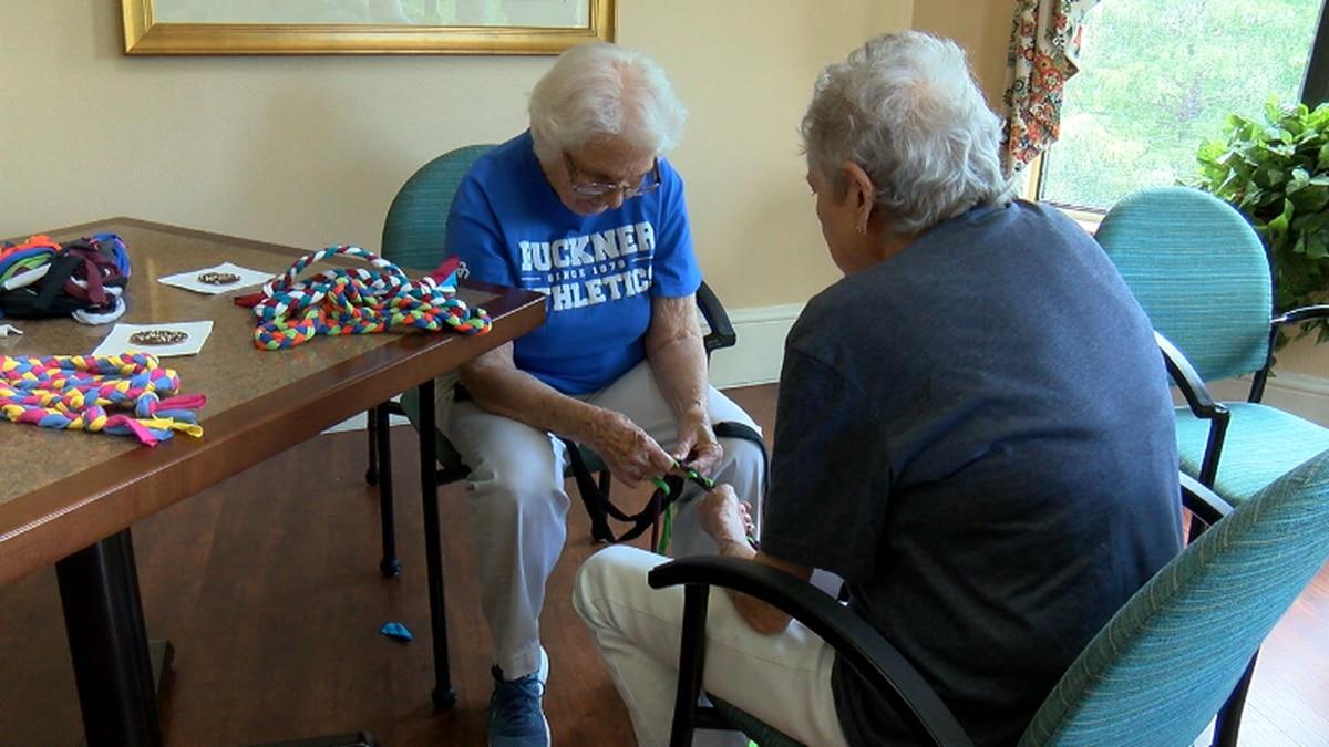 Senior living community in Longview creates handmade jump ropes for foster kids