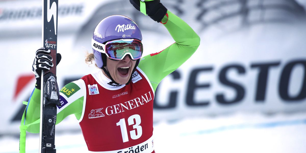 Stuhec marks return from injury by winning downhill