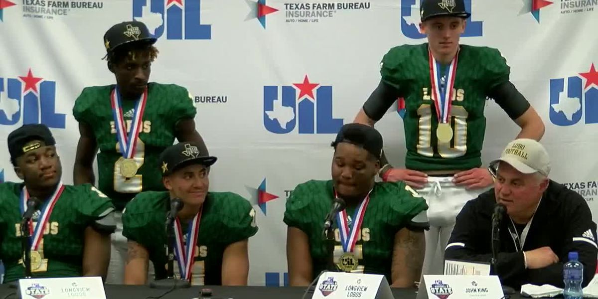 Longview Lobos celebrate their state championship