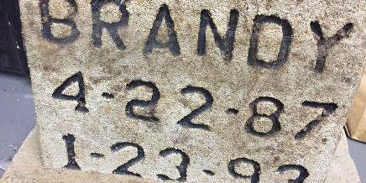 Upshur County Sheriff's Office seeking public's help in returning missing gravestone