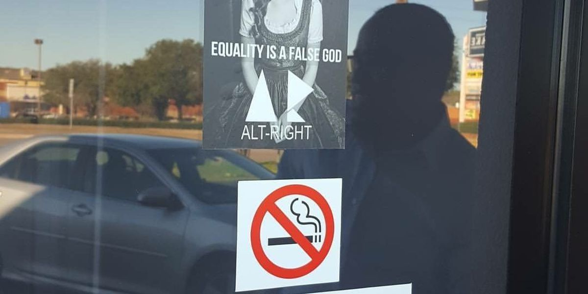 East Texas business targeted with Alt Right signs