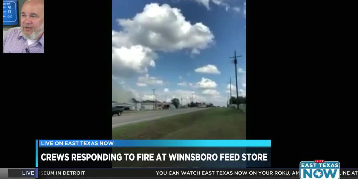 VIDEO: Crews responding to fire at Winnsboro feed store
