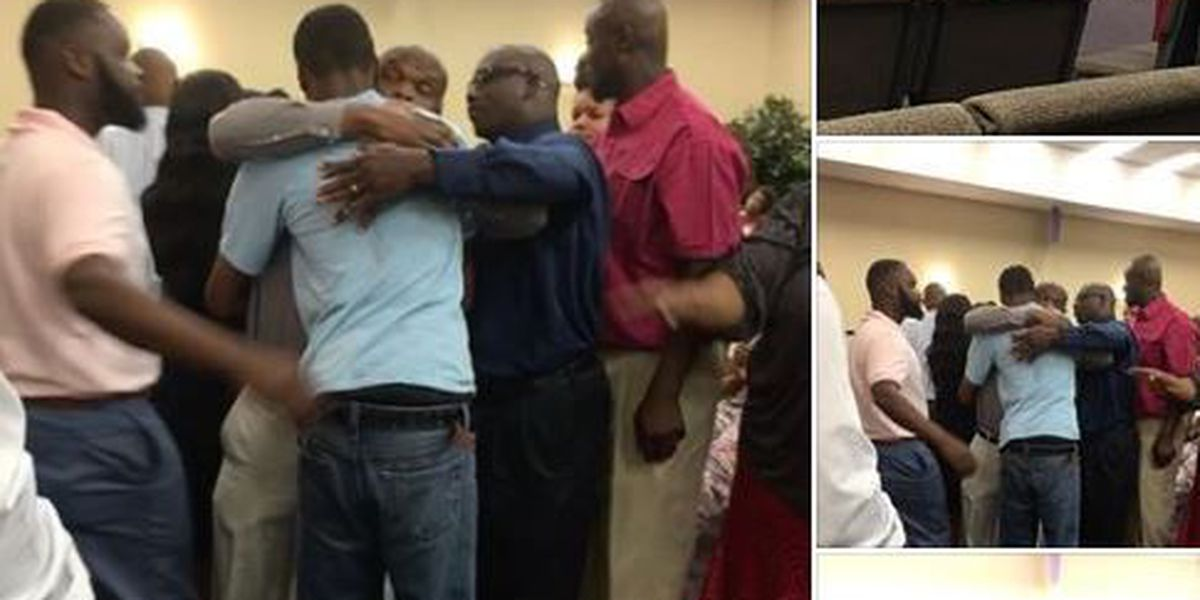 Photo shows teacher, student from viral confrontation embracing