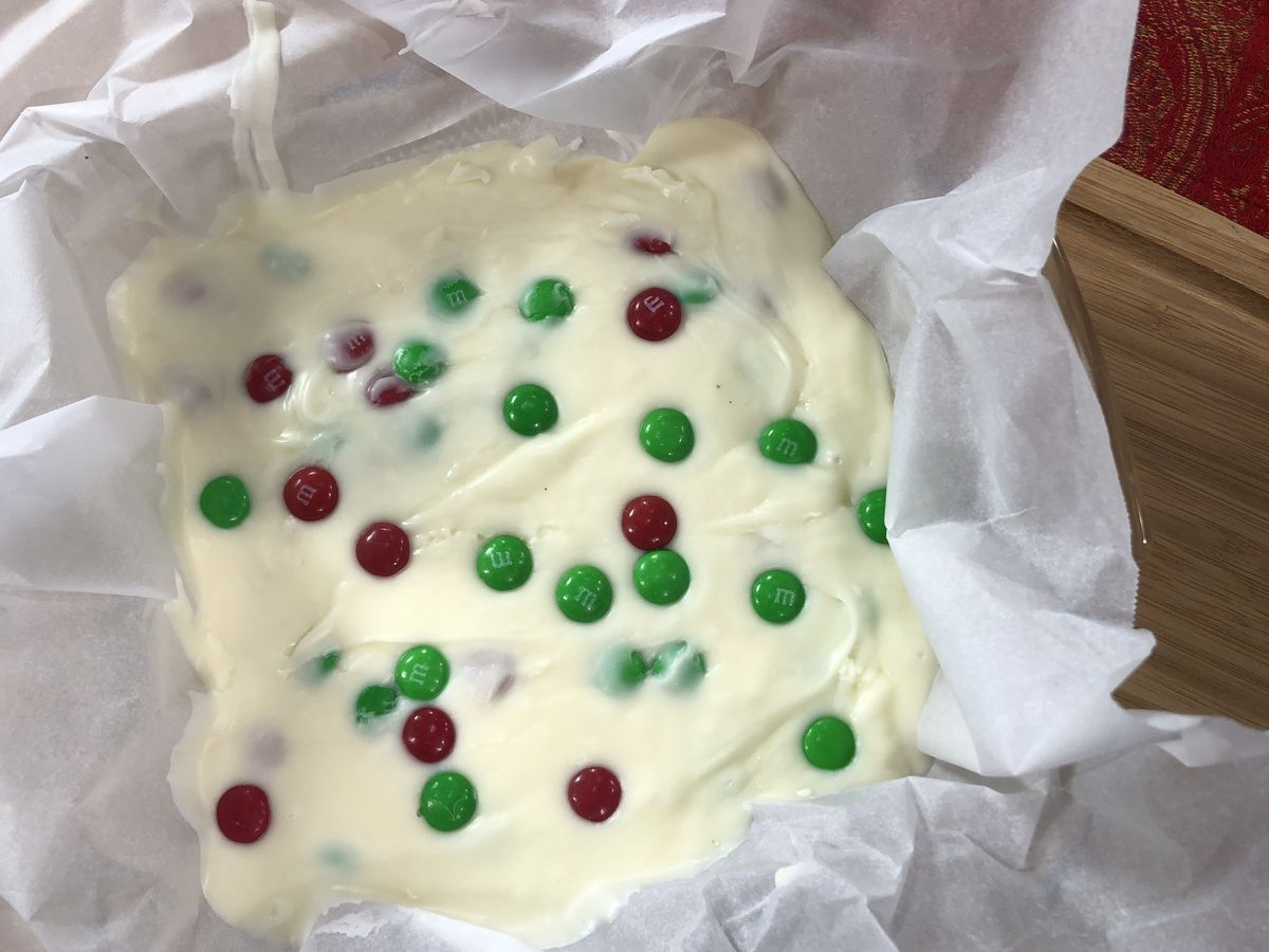 3-ingredient white chocolate-cream cheese fudge by Mama Steph