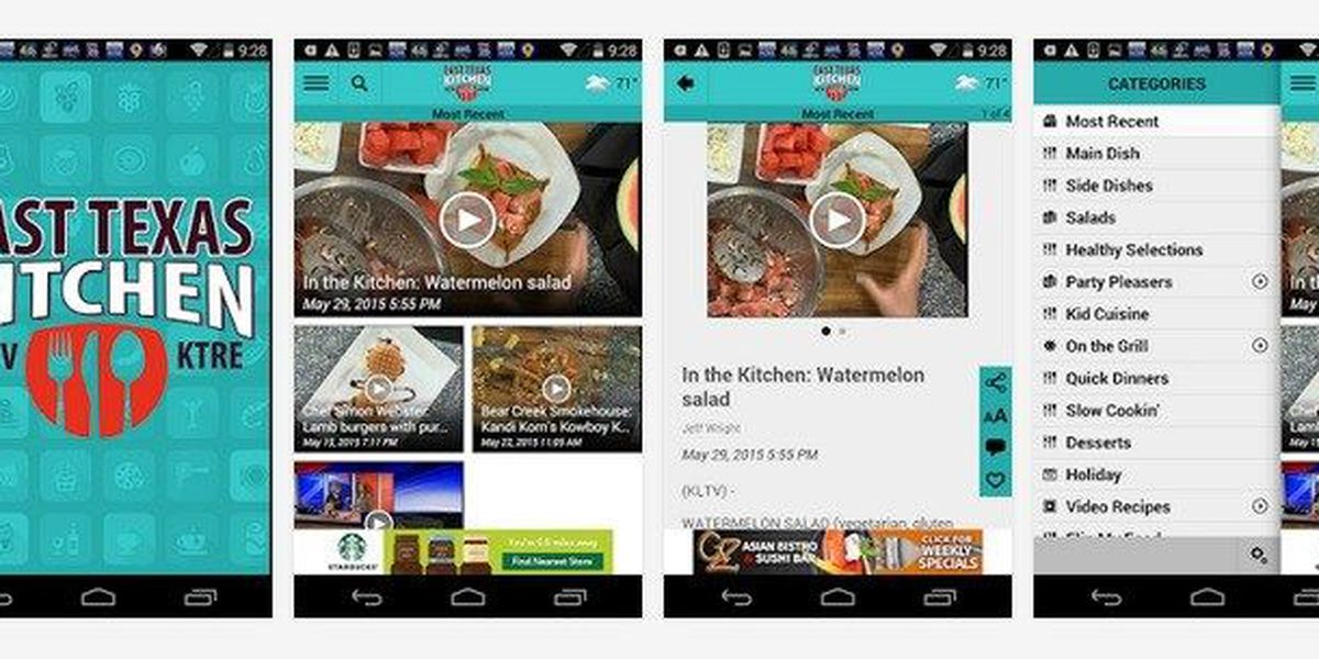 KLTV and KTRE launch app for foodies