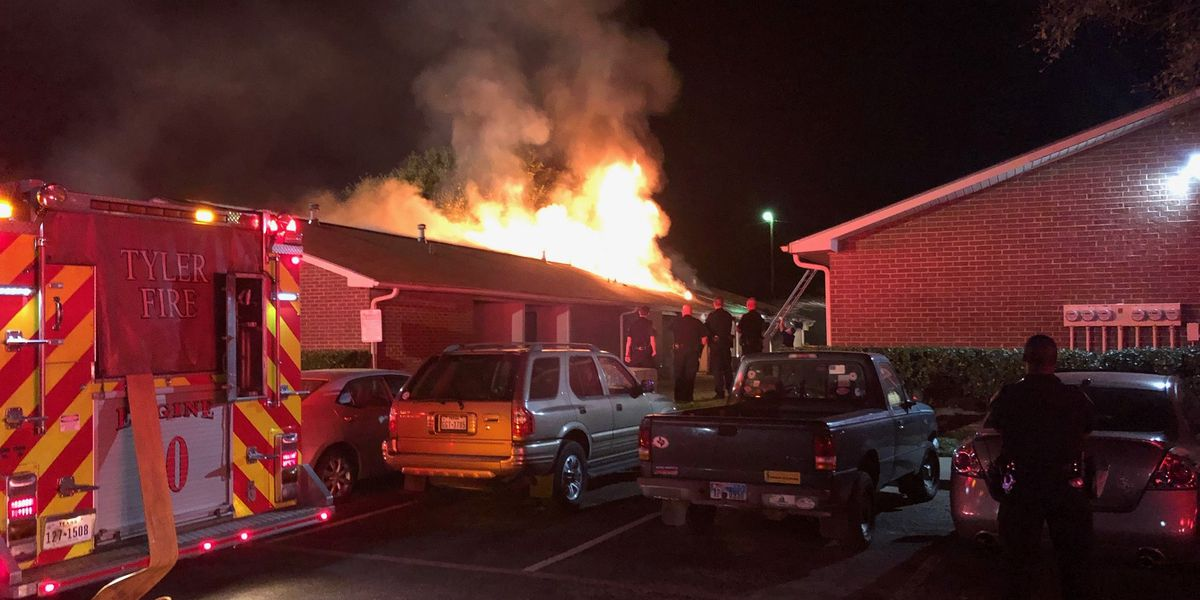 Multiple residents displaced after Tyler apartment fire