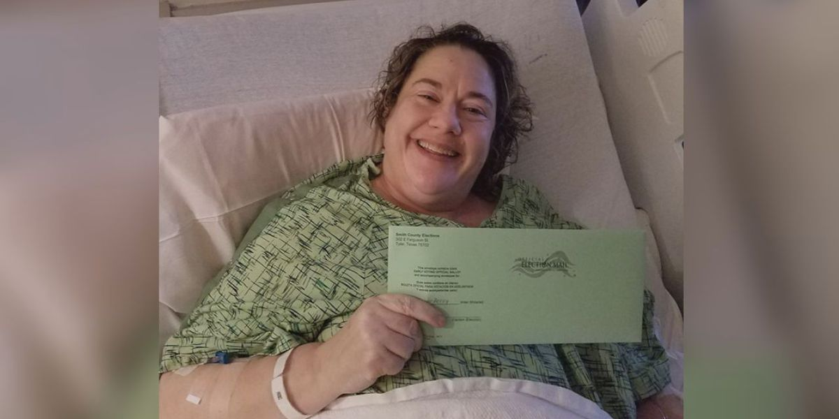 Hospitalized Tyler woman: 'Voting is your right and privilege'