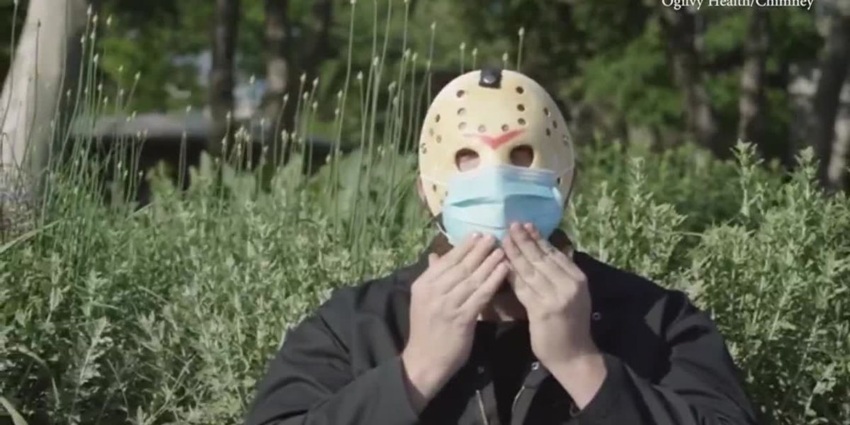 'Friday the 13th'-like villain stars in PSA for mask wearing