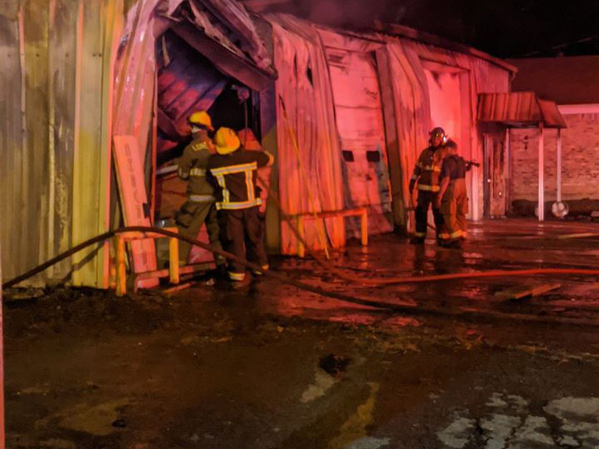 Fire in auto repair shop brought under control by Daingerfield firefighters