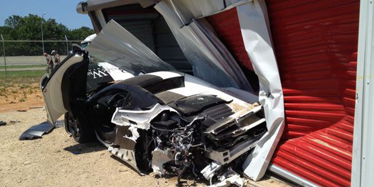 High-priced sports car destroyed after crash in ETX