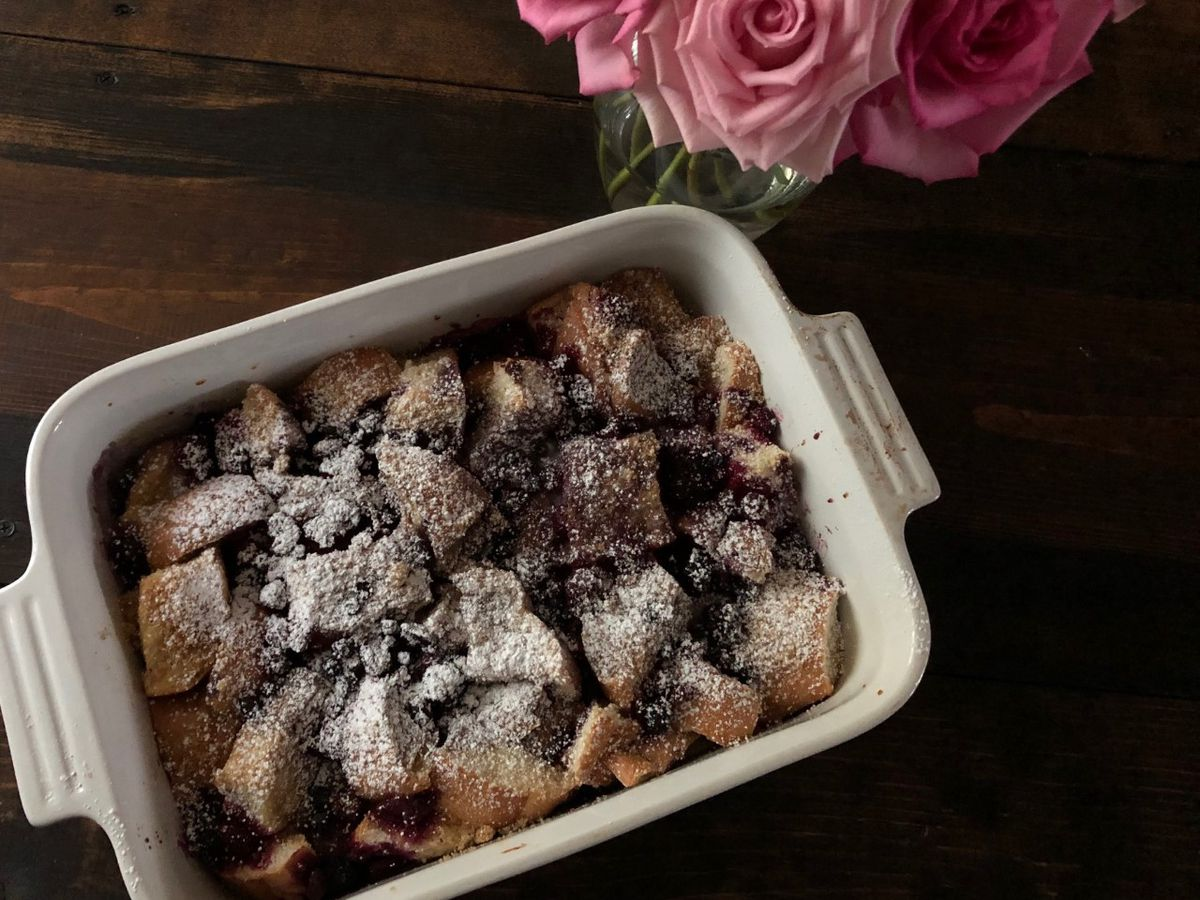 Berry French toast bake by Mama Steph