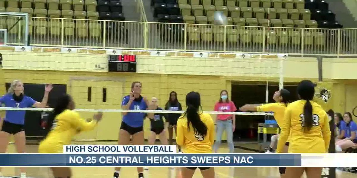 Central Heights sweeps Nacogdoches volleyball