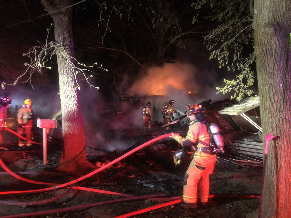 Multiple departments respond to large house fire in Lindale, cause unknown
