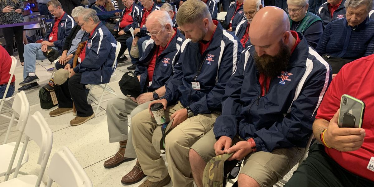 VIDEO: Veterans depart for 19th Heroes Flight to Washington, D.C.
