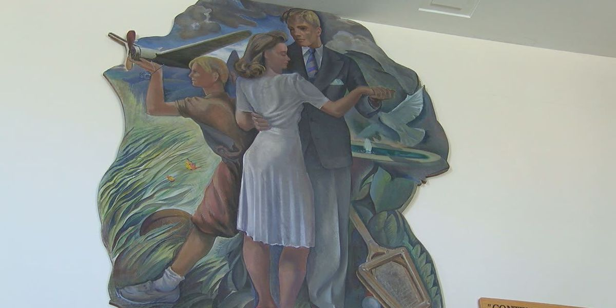 Historic murals return to their original places at old Kilgore post office