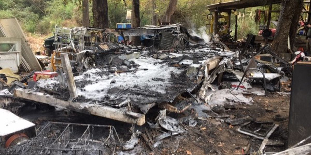 RV camper burns to ground in Smith County