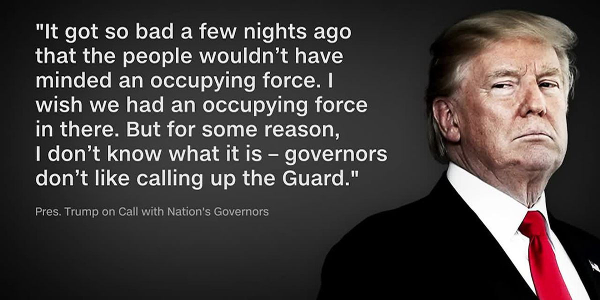 Trump call with governors: Use the National Guard