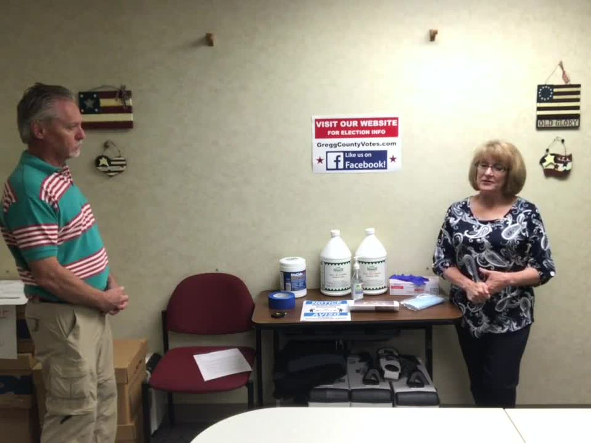 WEBXTRA: Gregg County elections official talks about minimizing COVID-19 exposure during voting