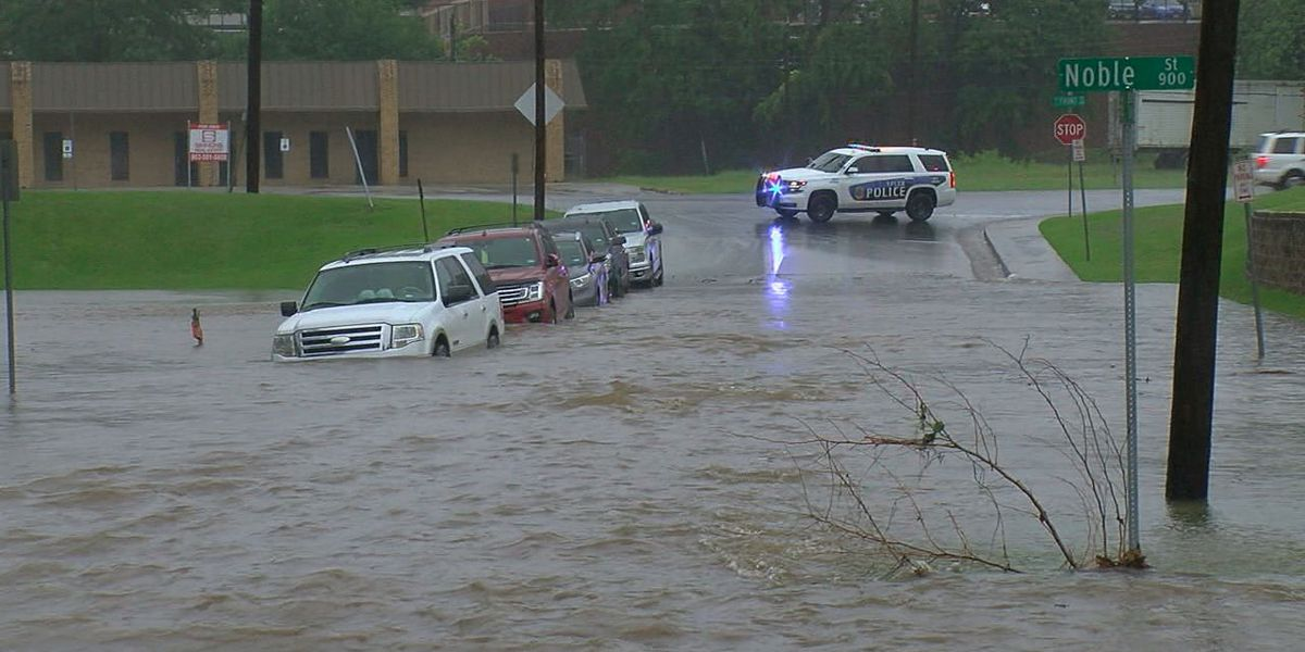 Monday morning downpour results in flooding near Tyler hospital