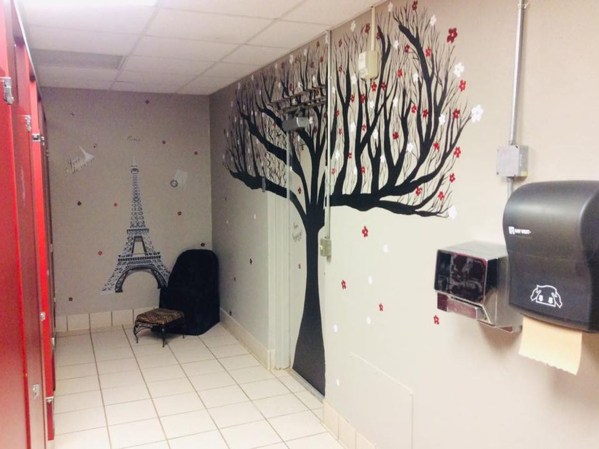 Pittsburg Elementary teachers flush forlorn student bathrooms, create fabulous facilities with art