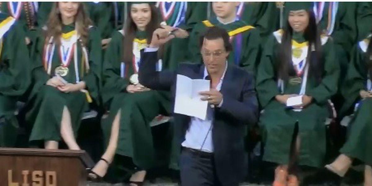 Actor McConaughey named professor at University of Texas
