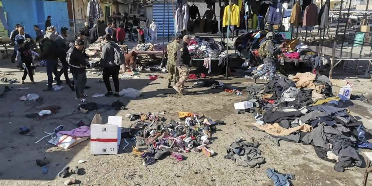 Twin suicide bombings rock central Baghdad, at least 28 dead