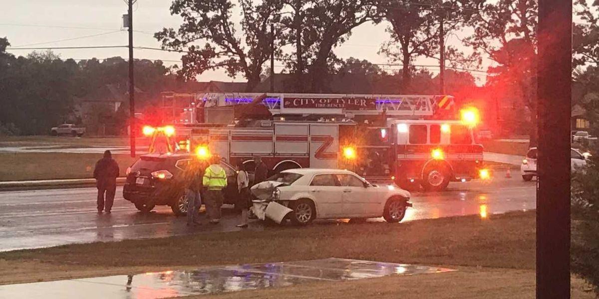 Tyler PD responding to major crash on Old Jacksonville Highway